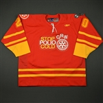 "McIlveen, Paul<br>Red ""Stop Polio Cold"" -  Feb. 18<br>Greenville Road Warriors 2010-11<br>#20 Size:56"