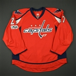Alzner, Karl<br>Red Set 2 w/ NHL Centennial Patch - Game-Issued (GI)<br>Washington Capitals 2016-17<br>#27