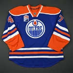 Benik, Joey<br>Blue Set 1 w/ Rogers Place Inaugural Season Patch - Game-Issued (GI)<br>Edmonton Oilers 2016-17<br>#47 Size: 58
