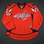 Alzner, Karl<br>Red Set 2 w/ NHL Centennial Patch<br>Washington Capitals 2016-17<br>#27 Size: 58