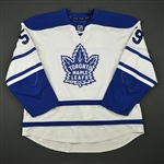 Aulie, Keith * <br>White Vintage Alternate - Photo-Matched<br>Toronto Maple Leafs 2010-11<br>#59 Size: 58