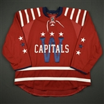 Blank - No Name or Number<br>Red Winter Classic (RBK Edge Version 2.0) - Reebok Wordmark Logo - CLEARANCE<br>Washington Capitals 2014-15<br>Size: 58