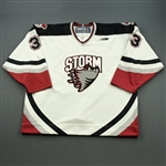 Nehrling, Lucas * <br>White<br>Guelph Storm 1998-99<br>#33 Size: 58