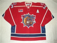 Baines, Ajay<br>Red Set 1 w/A - Calder Cup Finals<br>Hamilton Bulldogs 2006-07<br>#32 Size:54