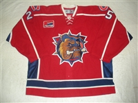 Lambert, Michael<br>Red Set 1 - Calder Cup Finals<br>Hamilton Bulldogs 2006-07<br>#25 Size: 56
