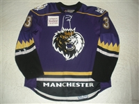 Harrold, Peter<br>Purple Set 1<br>Manchester Monarchs 2007-08<br>#3 Size: 56