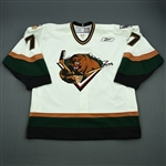 Cook, Brendan<br>White Set 1<br>Utah Grizzlies 2006-07<br>#7 Size: 56