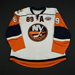 Comrie, Mike<br>White - w/ Core of the Four 25th Anniversary Patch, w/A<br>New York Islanders 2007-08<br>#89 Size: 56