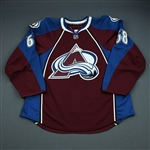 Finn, Samuel<br>Burgundy Set 1 - Game-Issued (GI)<br>Colorado Avalanche 2009-10<br>#68 Size: 56