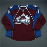 Fritsche, Tom<br>Burgundy Set 1 - Game-Issued (GI)<br>Colorado Avalanche 2009-10<br>#51 Size: 56