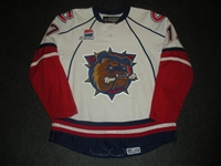 Chipchura, Kyle<br>White Set 1<br>Hamilton Bulldogs 2007-08<br>#17 Size: 56