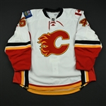 Aulie, Keith<br>White Set 1 - Game-Issued (GI) (RBK Version 2.0)<br>Calgary Flames 2008-09<br>#54 Size: 58+