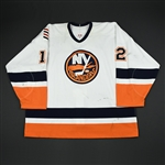 Kvasha, Oleg * <br>White 3rd Regular Season / Playoffs<br>New York Islanders 2002-03<br>#12 Size: 58