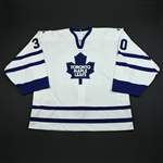 Aubin, Jean-Sebastien<br>White Set 3 - Backup Only<br>Toronto Maple Leafs 2006-07<br>#30 Size: 58G