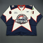 Bowers, Justin<br>White Set 1<br>Dayton Bombers 2008-09<br>#91 Size: 56