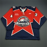 Doyle, Marty<br>Red Set 1<br>Dayton Bombers 2008-09<br>#43 Size: 56