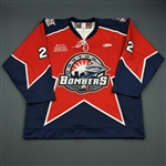 Reaney, Les<br>Red Set 1<br>Dayton Bombers 2008-09<br>#22 Size: 56