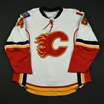 Lundmark, Jamie<br>White Set 3 / Playoffs<br>Calgary Flames 2008-09<br>#45 Size: 56