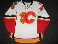 Donati, Justin<br>White Set 1 - Training Camp Only (RBK 1.0)<br>Calgary Flames 2007-08<br>#64 Size: 54