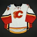 Kiprusoff, Miikka<br>White Set 2 Game Issued (RBK 1.0)<br>Calgary Flames 2007-08<br>#34 Size: 60G