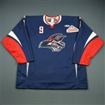 Connolly, Brendan<br>Navy Set 1<br>Elmira Jackals 2009-10<br>#9 Size: 56