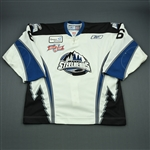 Adam, Jean-Sebastian<br>White Set 1 w/Kelly Cup Patch<br>Idaho Steelheads 2007-08<br>#6 Size: 56