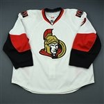 Michalek, Milan<br>White Set 3 / Playoffs<br>Ottawa Senators 2009-10<br>#9 Size: 58