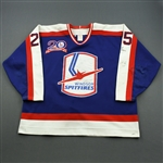Geris, David * <br>Navy Auto w/20th Anniv. Patch<br>Windsor Spitfires 1993-96<br>#25 Size: 56