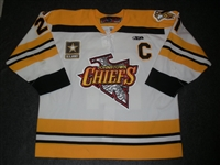 Knight, Mike<br>White Set 1 w/C<br>Johnstown Chiefs 2009-10<br>#21 Size: 56