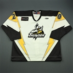 Davey, Bobby<br>White Set 1 w/5th Anniv. Patch<br>Stockton Thunder 2009-10<br>#20 Size: 56