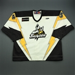 Emmerson, Riley<br>White Set 1 w/5th Anniv. Patch<br>Stockton Thunder 2009-10<br>#45 Size: 58