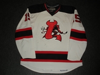 Clarke, Noah<br>White Set 1 (A removed)<br>Lowell Devils 2007-08<br>#15 Size: 56