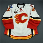 Nystrom, Eric<br>White Set 3<br>Calgary Flames 2009-10<br>#23 Size: 56