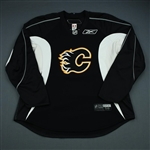 Reebok<br>Black Practice Jersey<br>Calgary Flames 2009-10<br>Size: 58
