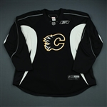 Reebok<br>Black Practice Jersey<br>Calgary Flames 2009-10<br>Size: 58+
