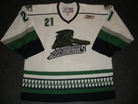 McJannet, Steve<br>White Set 1<br>Florida Everblades 2009-10<br>#21 Size: 56