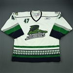 Paquet, Philippe<br>White Set 1<br>Florida Everblades 2009-10<br>#47 Size: 56