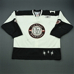 Ross, Nick<br>White Set 1<br>Las Vegas Wranglers 2009-10<br>#17 Size: 58