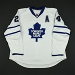 McCabe, Bryan<br>White Set 1 w/A (RBK 1.0)<br>Toronto Maple Leafs 2007-08<br>#24 Size: 58