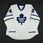 Wellwood, Kyle<br>White Set 1 (RBK 1.0)<br>Toronto Maple Leafs 2007-08<br>#42 Size: 56