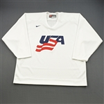 Booth, David * <br>White, U.S. Olympic Mens Orientation Camp Issued Jersey, Signed<br>USA 2009<br>#10 Size: XL