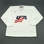 Martin, Paul * <br>White, U.S. Olympic Mens Orientation Camp Worn Jersey, Signed<br>USA 2009<br>#7 Size: XL