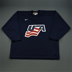 Rafalski, Brian * <br>Blue, U.S. Olympic Mens Orientation Camp Issued Jersey, Signed<br>USA 2009<br>#28 Size: XL