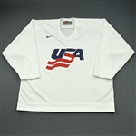 Ryan, Bobby * <br>White, U.S. Olympic Mens Orientation Camp Issued Jersey, Signed<br>USA 2009<br>#9 Size: XL