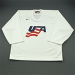 Thomas, Tim * <br>White, U.S. Olympic Mens Orientation Camp Issued Jersey, Signed<br>USA 2009<br>#30 Size: XXL G