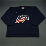 Whitney, Ryan * <br>Blue, U.S. Olympic Mens Orientation Camp Issued Jersey, Signed<br>USA 2009<br>#19 Size: XXL