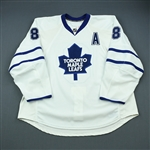 Komisarek, Michael<br>White Set 2 w/A<br>Toronto Maple Leafs 2009-10<br>#8 Size: 58+