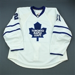 Mayers, Jamal<br>White Set 1<br>Toronto Maple Leafs 2009-10<br>#21 Size: 58