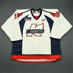 Cleaver, Rick<br>White Set 1<br>Kalamazoo Wings 2009-10<br>#19 Size: 56