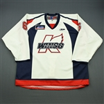 Colbert, Will<br>White Set 1<br>Kalamazoo Wings 2009-10<br>#6 Size: 58